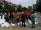 Nézsai önkéntesek az árvízi védekezésben